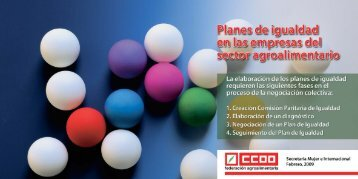 Planes de igualdad en las empresas del sector - CCOO