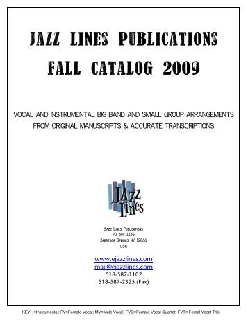 Jazz lines PubLications faLL CataLog 2009 - Ejazzlines.com