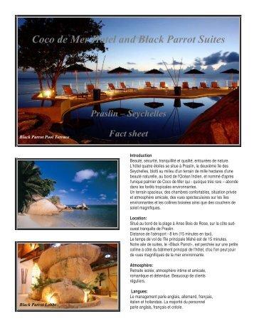 Fiche technique hôtel - Solea Vacances
