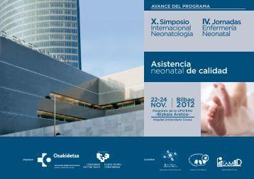 Avance Programa - EXTRANET - Hospital Universitario Cruces