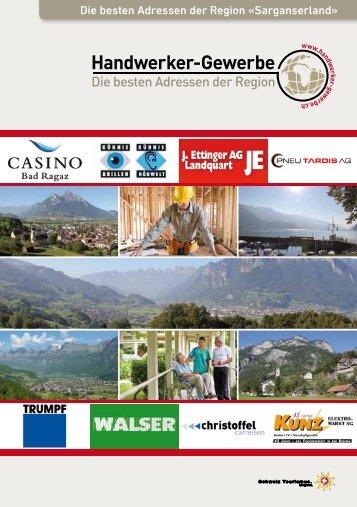 Handwerker- und Gewerbeinfo Sarganserland 2015/2016