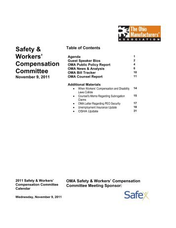 Safety & Workers - Ohio Manufacturers' Association