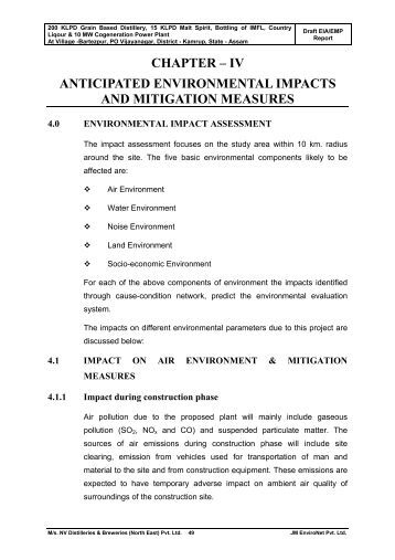 residual impact mitigation measure in Mitigation, measures taken to reduce or remove environmental impacts   residual impacts, impacts that still remain even after the design of mitigation  measures.