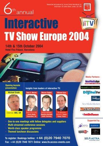 TV Show Europe 2004