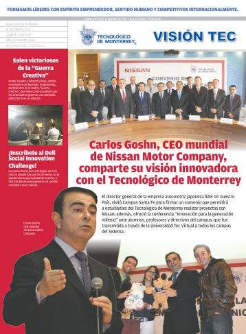 Carlos Goshn, CEO mundial de Nissan Motor Company, comparte ...