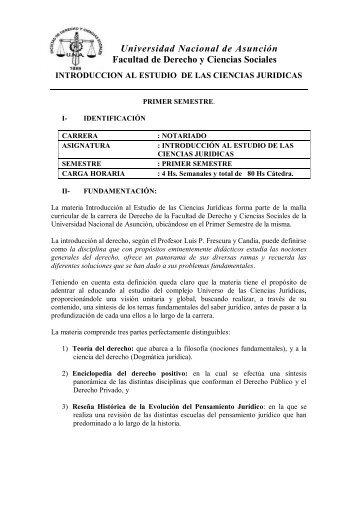 Introducción al Estudio de las Ciencias Jurídicas - Facultad de ...