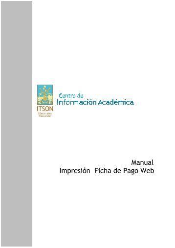 Manual Impresión Ficha de Pago Web