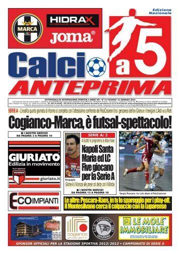 calcio a 5 5/13 NAZ - Calcio a 5 Anteprima