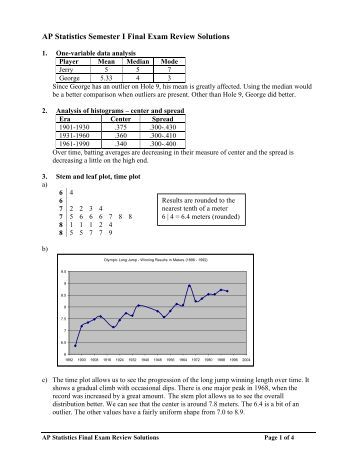 statistics exam review Stat 1030 business statistics additional final exam review questions (part i) directions: these practice questions are intended to show the style of the nal exam and.