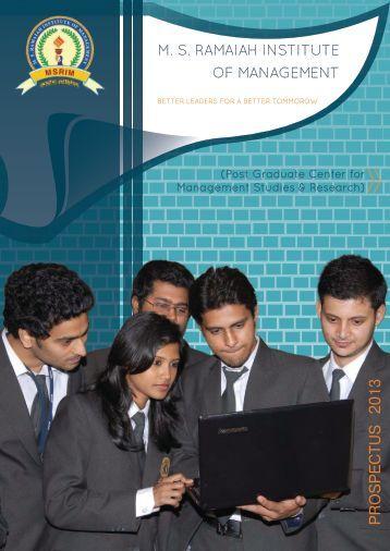 MSRIM Prospectus - MS Ramaiah Institute of Management