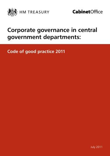 Corporate governance in central government departments ... - Gov.UK