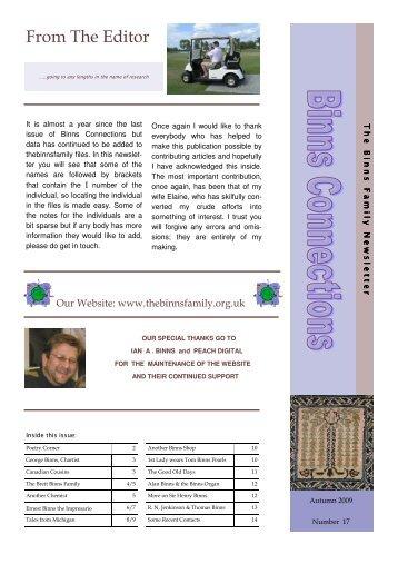 Newsletter 17 .pub - The Binns Family