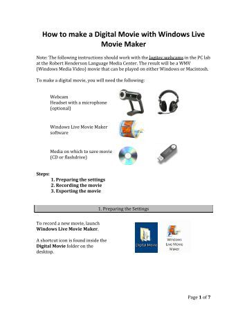how to make movie with windows live movie maker