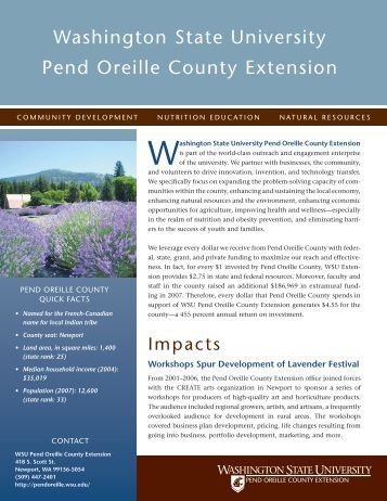 pend oreille county Sperling's comfort index for pend oreille county is a 66 out of 100, where a higher score indicates a more comfortable year-around climate.