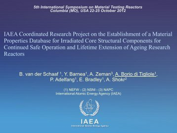 004 IAEA Coordinated Research Project on the Establishment of ...