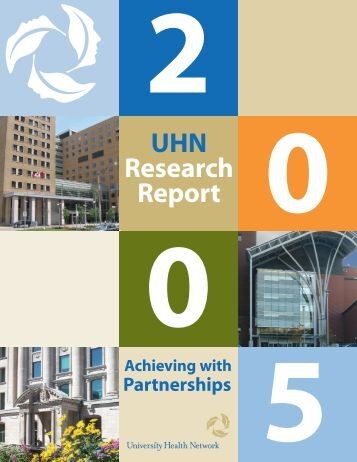 Download the 2005 pdf - UHN Research