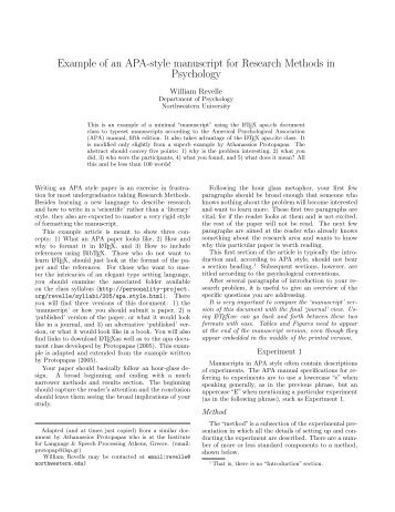 Running head in research paper