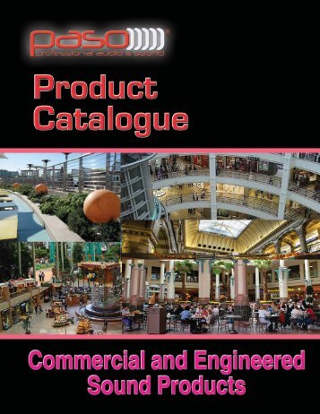 Paso Catalogue - Paso Sound Products