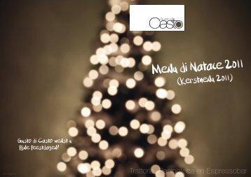 Menu di Natale 2011 - Gusto di Casto