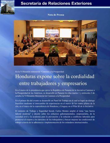 Honduras expone sobre la cordialidad entre ... - Sre.gob.hn