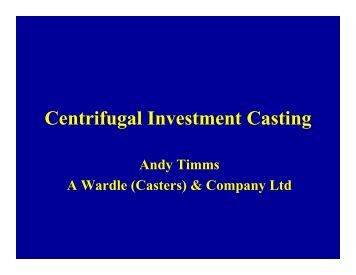 investment casting essay Investment casting policies site map  shiva analyticals also has a fire essay facility to provide estimation of gold analysis and a fully equipped icp-ms.