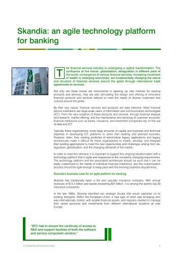 Skandia: an agile technology platform for banking