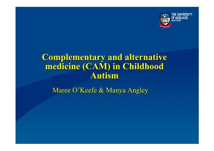 Alternative Medicine Essay