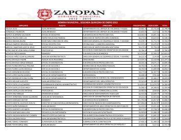 Listado de ingresos nominales 2da. quincena de enero 2013