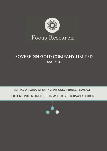 Initiating Coverage - Sovereign Gold Company Limited