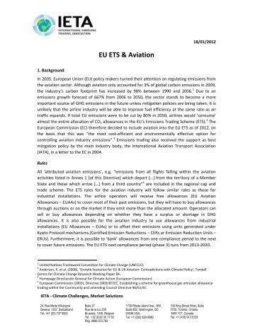 Eu emissions trading system aviation