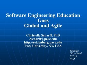 Software Engineering Education Goes Global and Agile - NY SPIN