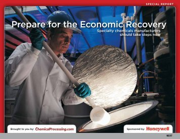 Prepare for the Economic Recovery - Chemical Processing