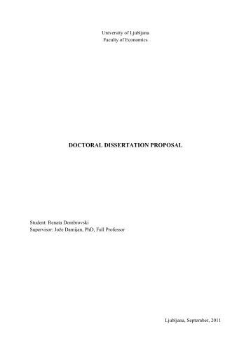 oise thesis proposal Thesis proposal title – 137683 oisethesis title: section 4: ethics review if the proposed research involves human subjects, animal subjects.
