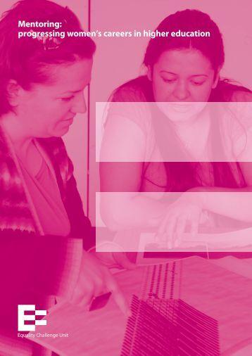 Mentoring: progressing women's careers in ... - University of York