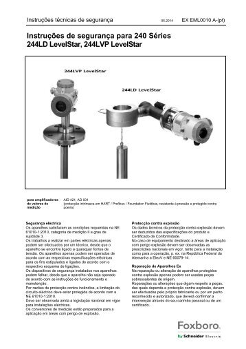 Safety Operating Instructions - FOXBORO ECKARDT
