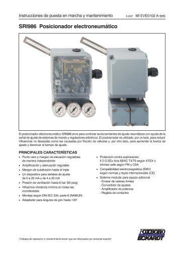 SRI986 Posicionador electroneumático - FOXBORO ECKARDT
