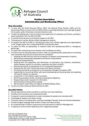 Position - Job description for administrative officer ...