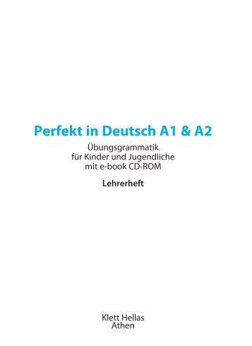 Lösungen zu Perfekt in Deutsch A1 & A2 - Klett