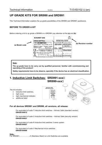 Upgrade Kits - FOXBORO ECKARDT