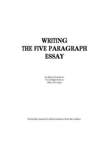 the five paragraph essay book Samples of five paragraph essays you will five sure to obtain a essay that satisfies all your requirements and easily samples your paragraph plan.