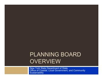 PLANNING BOARD OVERVIEW - Capital District Regional Planning ...