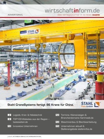Logistik, Kran- & Hebetechnik | wirtschaftinform.de 04.2015