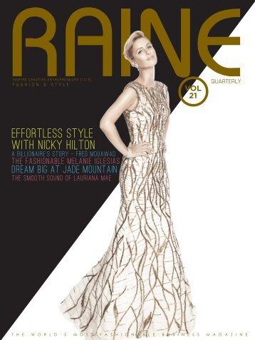 RAINE MAGAZINE Volume 21   Fashion & Style