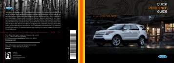 Ford Explorer 2013 - Quick Reference Guide Printing 2 (pdf)