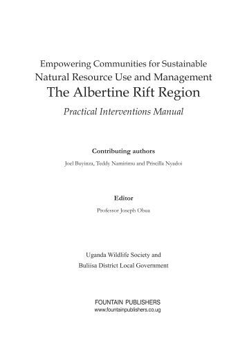 Empowering Communities for Sustainable Natural Resource Use ...