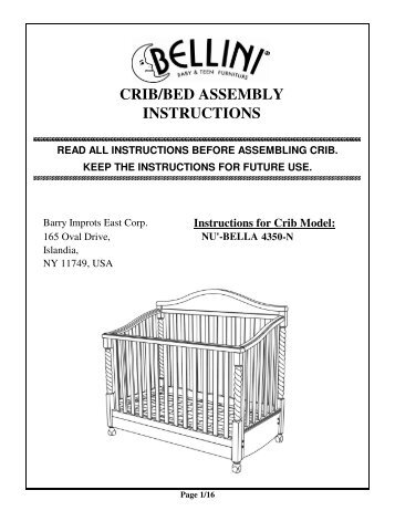 mamas and papas cot bed instructions pdf