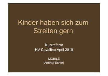 Referat Andrea Schori HV 2010 - Chinderhuus Cavallino