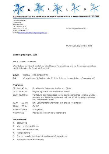 Einladung Tagung SILS 2008