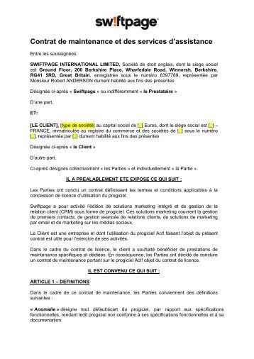 Contrats d'Assistance et d'Assurance [LES ... - Prox-Hydro