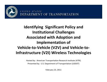 U.S. DOT Truck Technology Policy Issues - Trucking Industry ...